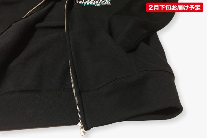 ガイコツ武者×ガイコツ舞妓ジップアップパーカー